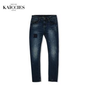 Peinture à l'aise Fashion Skinny Mens Denim les fabricants de correctifs spécial Denim Jeans Pantalons haut stretch