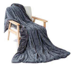 Chanasya Super Soft borrosa elegante arrojar una manta de piel sintética de bombeo acogedora manta de piel de conejo