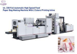 Sac de papier à fond plat Making Machine