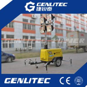 Gerador Diesel móvel de emergência Torre de iluminação (GLT6000-9H)