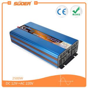 AC 220V 2500W 태양 순수한 사인 파동 힘 변환장치 (FPC-2500A)에 Suoer DC 12V