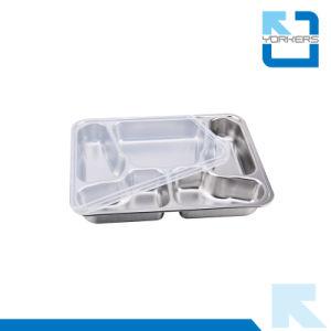 Commerce de gros en acier inoxydable de compartiment de la plaque de papillon 5 Déjeuner