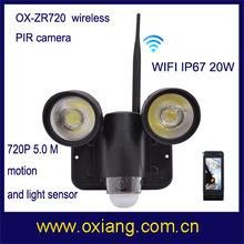 Водонепроницаемый 5,0 MP Motion ночное видение WiFi PIR датчик световой индикатор камеры Zr720 Беспроводная Видеокамера CCTV с 2 ПК светодиодные индикаторы
