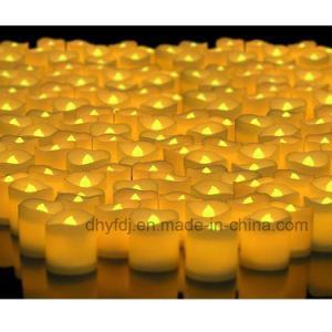 Decoração de Natal Branco Quente Flameless operados por bateria LED decorativas chama por grosso