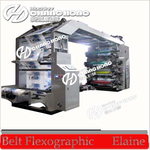 Flexo máquina de impresión, Cine Bolwing, Bolsa de plástico que hace la máquina (CH804)
