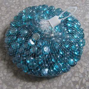 Cristal decorativo microesferas de vidrio plano transparente para los acuarios