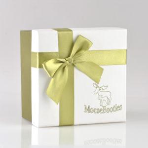Custom печати Лента лук роскошь бумаги картона в подарочной упаковке .