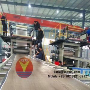 シートのアプリケーションおよびPVCプラスチックによって処理されるSpcフロアーリングの生産機械