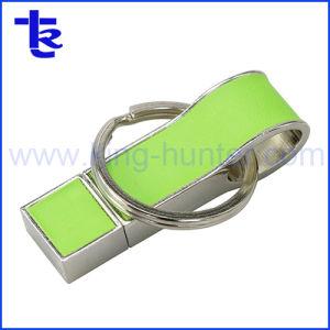 Мини-драйвер USB Flash из натуральной кожи с крюком для компании подарок