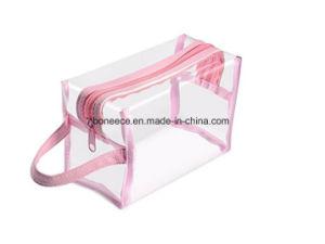 Transparentes que transportam produtos de toucador espelho sacos EVA saco cosmético de PVC transparente para viagens