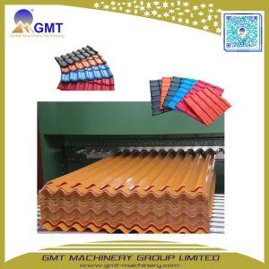 紫外線コーティングのPVCによって艶をかけられる屋根瓦プラスチックシートの放出の機械装置