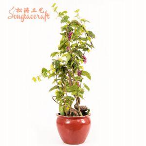 acb915a175aeb Bush Palma artificial realismo de las plantas de vid de uva de árbol con  frutos de la Decoración