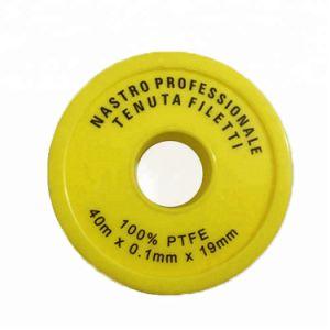 Jaune FILETAGE PTFE de 100 % pour le gaz de bandes de bandes de joint