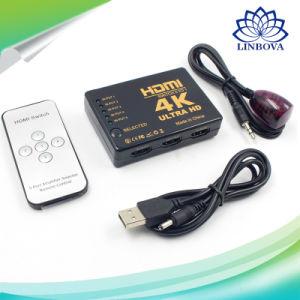 4K 5 a 1 Divisor HDMI Hub do selector de caixa de comutação Switcher para PS3 DVD HDTV com controlo remoto de infravermelhos comutador HDMI