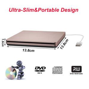 Внешний USB-дисковод компакт-дисков DVD для ноутбука/PC/Mac (Роуз Gold)