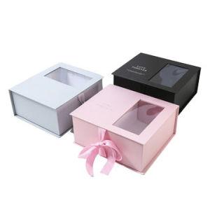 크리스마스 선물 각종 크기의 서류상 포장 상자 고품질 선물 전시 포장, 명확한 Windows, OEM 종이상자 및 색깔