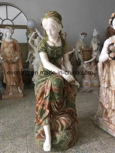 Beeldhouwwerk van het Cijfer van het Standbeeld van de Vrouwen van het Beeldhouwwerk van het Onyx van de Kleur van de mengeling het Marmeren voor Tuin