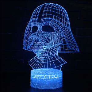 E-Ronic Acrylnachtlichter der hologramm-Illusion-veränderbare Farben-3D LED
