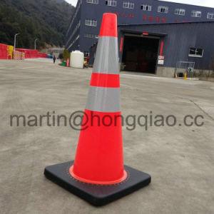 Flexible de 29 pulgadas de PVC reflectante naranja conos de tráfico