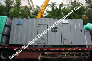 600квт 750 ква дизельный двигатель Cummins Кта38-G2 контейнерных звуконепроницаемых генераторной установки