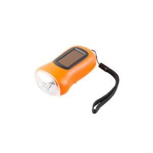 Cadeau promotionnel Mini dynamo solaire Manivelle de la lampe de poche d'urgence