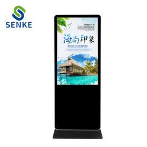 HD de pantalla Publicidad Bisel estrecho Trípode Digital Signage 55 pulgadas LCD Digital Signage Digital SD Android Bus WiFi el reproductor de vídeo caliente LCD LED Publicidad