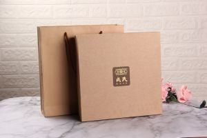 Конструкция ручной работы печать логотипа Custom горячей штамповки верхняя крышка подарочная упаковка чая упаковки