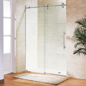 Rolos grandes chuveiro porta corrediça sem esforço para chuveiro Gabinete (2017)