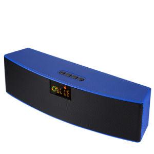 Кожаный мини стерео звук 10W Громкоговоритель с беспроводной технологией Bluetooth с FM-радио дисплей со светодиодной подсветкой