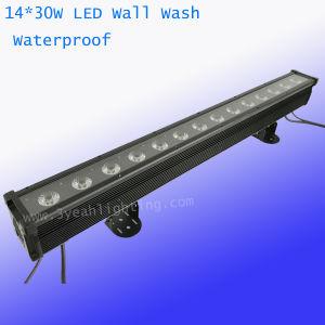 30W 14PCS RGBWA Arruela de parede à prova de iluminação de palco