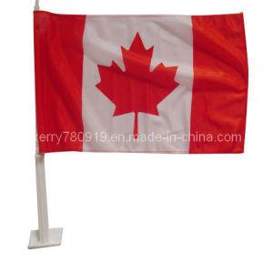 Valioso tejido de punto Canadá coche bandera