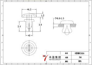 Remache de nylon del empuje del remache del broche de presión del plástico