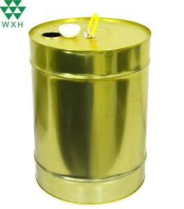 18L étain godet vide lubrifiant moteur du tambour d'huile à trou rond étain métallique de rétrécissement Seau avec couvercle en plastique