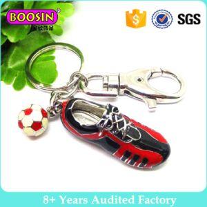 Scarpa da tennis della lega del metallo della fabbrica e pendente Keychain di gioco del calcio