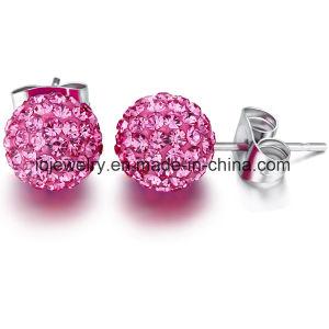 Shamballa boule de cristal Earrings n'importe quelle taille est disponible