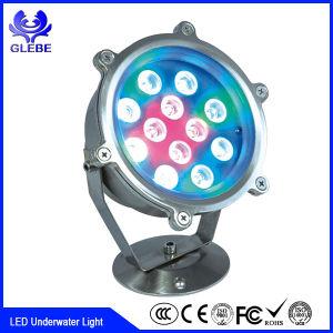 18W 36W el cambio de color RGBW LED de alta potencia de luz bajo el agua utilizada para la fuente y el barco
