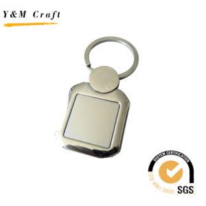 正方形によってカスタマイズされる昇進の金属のキーホルダー(Y02330)