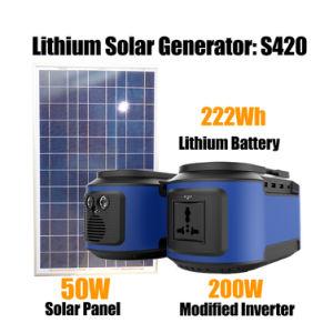 sistema di batteria di riserva della centrale elettrica solare portatile 200W per uso domestico