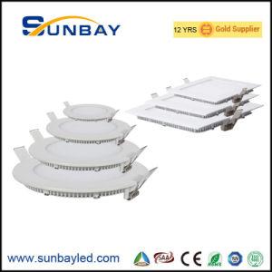 Foshan Cuadrado redondeado Panel LED Slim Factory ISO9001
