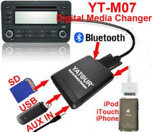 Yatour Cambiador de medios digitales (USB/SD/AUX IN/iPod/iPhone) para VW/Toyota/Honda/Mazda...etc.