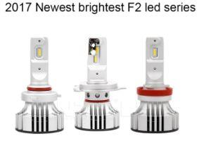 中国の直接供給LEDのヘッドライト6000lm 36WのペアF2 H4 H8 H9 H16はビーム強いファン熱放散を選抜する