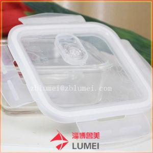 Claro conjunto de envases de vidrio reutilizable Caja de almacenamiento de alimentos fiambreras para la cocina con tapas