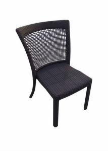 Rattanの屋外の庭Dining Chair Coated