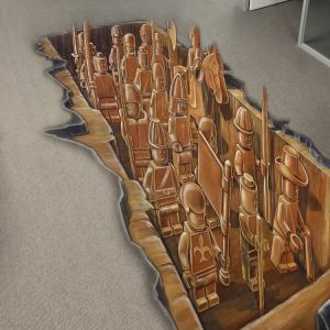 Film graphique pour station de métro de plancher