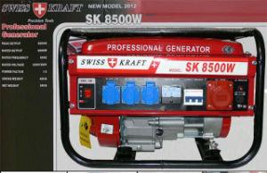 Heißes Sell Kick Anfang Three Phase New Schweizer Kraftpapier Gasoline Generator 8500W mit Highquality