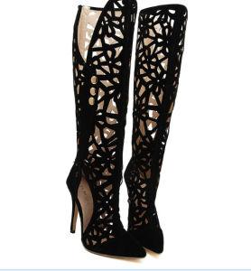 Nouveau noir sexy haut talon Chaussures sanctifier out (HC 033)