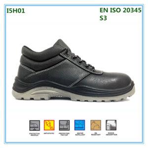 La acción Palm Imprimir Zapatos de seguridad de cuero con puntera