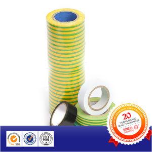 Желтого цвета зеленого цвета пленки 600V НЕГОРЮЧИЙ ПВХ изоляционной ленты