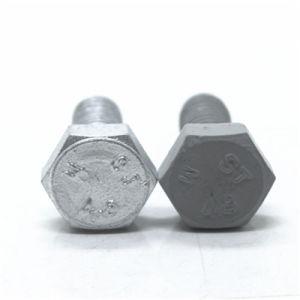 En acier au carbone Gr4.8 Appuyez sur le boulon hexagonal galvanisé