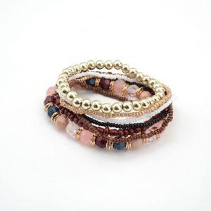 De natuurlijke Semi Juwelen van de Halfedelsteen van de Armband van de Edelsteen Kristal Geparelde Charmante